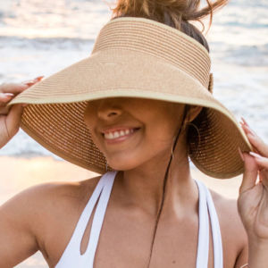 Foldable Wide Brim Visor with Bow
